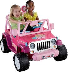 barbie jeep 2000 amazon com fisher price power wheels barbie jammin u0027 jeep wrangler