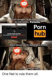 Side By Side Meme - never thought i d die fighting side by side with a pornsite porin