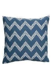 Navy Velvet Cushion Jacquard Weave Cushion Cover Navy Blue White Home All H U0026m Ca
