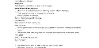 Sample Resume Format For Banking Sector Great Illustration Template Pattern C Adana