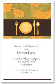 place setting autumn leaves dinner invitations