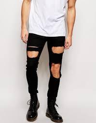 Mens Destroyed Skinny Jeans Men Ripped Skinny Jeans Bod Jeans