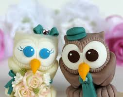 owl cake toppers bird owl wedding cake topper with banner personalized