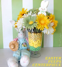 Easter Decorations With Peeps by Easter Peeps Centerpiece Two Sisters Crafting