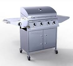 cuisine barbecue gaz foxhunter 4 burner bbq gas grill stainless steel barbecue 1 side
