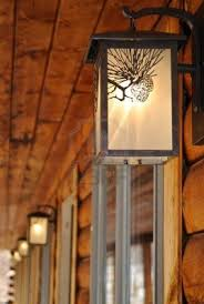 Log Cabin Lighting Fixtures Decoration Outdoor Lighting Fixtures At A Log Cabin Motel Figure