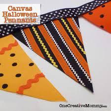 canvas halloween pennants no sew onecreativemommy com