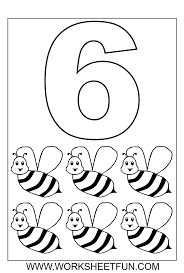 numbers colouring sheets 06 with number 5 coloring page