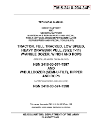 caterpillar d8k tractor serial 77v5006 up parts catalog tm 5 2410