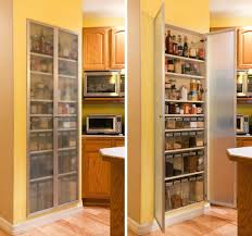 Cabinet Inserts Kitchen White Painted Hutch Cabinetry With Curved Mullions And Clear Glass