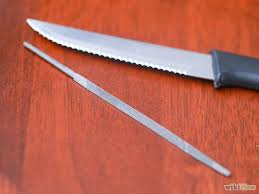 how to sharpen kitchen knives best 25 sharpen serrated knife ideas on sharpening