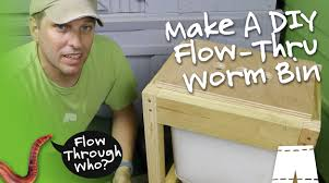 how to make a flow through worm composter youtube composting