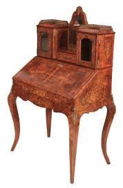 bureau bonheur du jour 19th century marquetry bureau loveantiques com