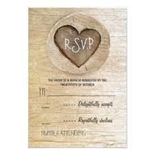 wood wedding invitations announcements zazzle