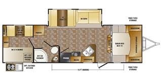 sunset trail rv floor plans 2015 crossroads rv sunset trail super lite series m 290 qb specs and