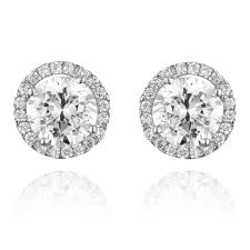 cubic zirconia stud earrings 9ct white gold cubic zirconia stud earrings 0000575