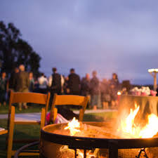 California Fire Pit by Dune Lakes Wedding On The Central Coast Of California Fire Pit At