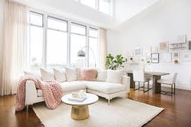 this fashion blogger u0027s blush pink living room is totes instagram
