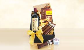 wine and gift baskets wine and cigar gift baskets groupon goods