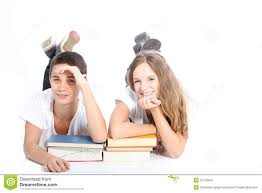 books for high school graduates smiling high school students with school books stock image image