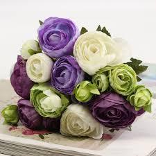 home decoration flowers 10 heads artificial silk flower camellia wedding bouquet party