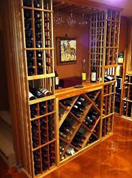 wine cellar table stemware rack in wine cellar traditional with tabletop accessories