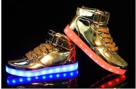 light shoes for mens quality led shoes mens gold high top for sale