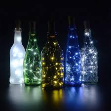 cork lights for wine bottles 6 pack bizoerade 30inch 75cm 15 led