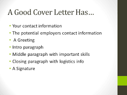 cover letter resume and references ppt download
