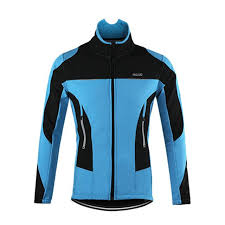 cycling jacket blue waterproof thermal fleece cycling jacket quirky jerseys