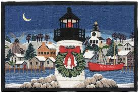 Lighthouse Rugs Claire Murray Nantucket Christmas 1159 Claire Murray