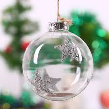 clear glass bauble decoration silver wedding