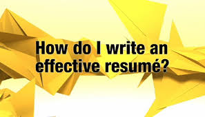 tips for writing your resumé alis