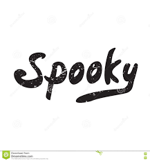 spooky halloween lettering halloween poster with text stock illustration image 78443708