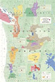 Why Do Western Maps Shrink by Wine Map Of The Pacific Northwest Oregon Washington And British