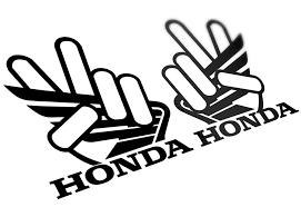 Famosos Par Adesivo Tanque Honda Mãozinha da Paz &BI92