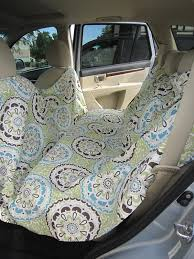 dog seat cover made from a shower curtain can be used with seats