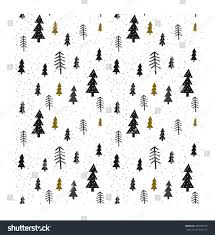 winter graphic seamless pattern christmas trees stock vector