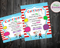 Baby Shower Candy Buffet Sign by Dr Seuss Candy Etsy