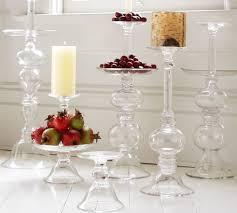 glass candleholders pottery barn