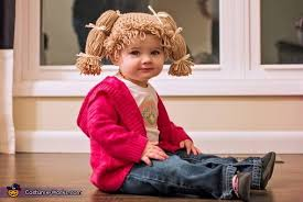Homemade Cabbage Patch Kid Halloween Costume Cabbage Patch Doll Costume Baby Babydoll Collections