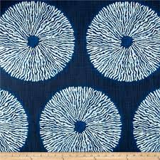 blue home decor fabric robert allen home shibori sol indigo from fabricdotcom from