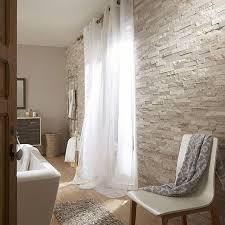 chambre cottage plaquette de parement naturelle gris beige cottage