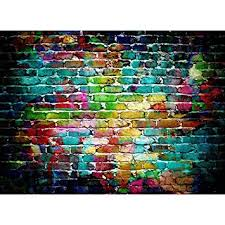 Photography Background Amazon Com Mohoo 7x5ft Colorful Brick Wall Silk Photography