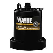wayne 1 6 hp submersible utility pump tsc160 the home depot