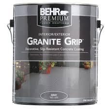 behr 1 gal 65001 gray granite grip interior exterior concrete