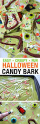 worms u0026 bugs halloween candy bark treats green kid and bark recipe