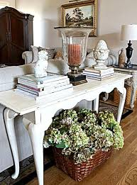 console table used as dining table 25 ways to use an antique desk in your interior digsdigs
