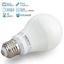 garage opener light bulb led a19 light bulb 100w equivalent e26 base torchstar