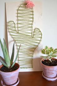 diy cactus string art craft from scratch with maria provenzano
